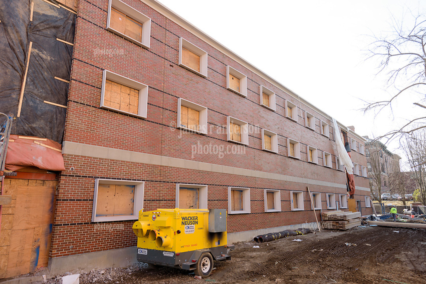 Major Renovation Litchfield Hall WCSU Danbury CT<br /> Connecticut State Project No: CF-RD-275<br /> Architect: OakPark Architects LLC  Contractor: Nosal Builders<br /> James R Anderson Photography New Haven CT photog.com<br /> Date of Photograph: 28 February 2017<br /> Camera View: 06 - North Elevation