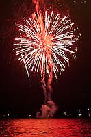 Fireworks, Fourth of July - Independence Day, Kailua Bay, Kailua Kona, Big Island.
