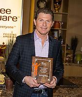 Chef Bobby Flay visits Three Square Food Bank in Las Vegas