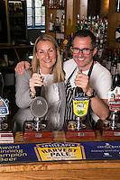 Sarah and Mark Anderson, licencees of The Ruddington Arms, Ruddington, Nottingham