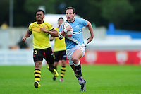 Tomas Kerz of Argentina runs in a try. FISU World University Championship Rugby Sevens Men's 7th/8th/9th place play-off between Malaysia and Argentina on July 9, 2016 at the Swansea University International Sports Village in Swansea, Wales. Photo by: Patrick Khachfe / Onside Images