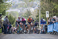 first passage of the women elite on the Mur de Huy<br /> <br /> La Fl&egrave;che Wallonne Feminine 2017 (1.WWT)<br /> One Day Race: Huy &rsaquo; Mur de Huy (120km)