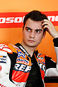 February 4, 2010 - Kuala Lampur, Malaysia - Spanish rider Dani Pedrosa (Repsol Honda Team) takes a break in his box during MotoGP testing on Sepang International Circuit on February 5, 2010. (Photo Andrew Northcott/Nippon News).