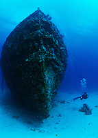 Diver at the Wreck of the General Rogers<br /> U.S. Virgin Islands