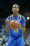 16 November 2014: UCLA's Lajahna Drummer. University of North Carolina Tar Heels hosted the University of California Los Angeles Bruins at Carmichael Arena in Chapel Hill, North Carolina in a 2014-15 NCAA Division I Women's Basketball game. UNC won the game 84-68.