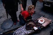 Sukhumi, Abkhazia<br /> September 28, 1993<br /> <br /> Hidden Georgian snipers wound numerous people the day after Abkhazian separatists take control the Parliament building and the city.