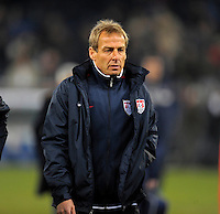 Juergen Klinsmann  (USA), during the friendly match Italy against USA at the Stadium Luigi Ferraris at Genoa Italy on february the 29th, 2012.
