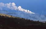 Volcanic eruption from Chain of Craters Road