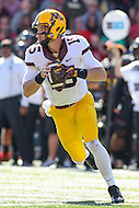 College Park, MD - October 15, 2016: Minnesota Golden Gophers quarterback Conor Rhoda (15) attempts a pass during game between Minnesota and Maryland at  Capital One Field at Maryland Stadium in College Park, MD.  (Photo by Elliott Brown/Media Images International)