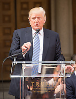 WASHINGTON, DC - JULY 23: Donald Trump at groundbreaking ceremony for the Trump International Hotel on July 23, 2014 in Washington, D.C. Photo Credit: RTNMelvin/MediaPunch