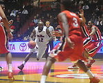 Ole Miss guard Chris Warren (12)  at the C.M. &quot;Tad&quot; Smith Coliseum in Oxford, Miss. on Saturday, January 15, 2011. Georgia won 98-76.  (AP Photo/Oxford Eagle, Bruce Newman)