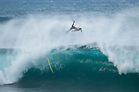 BANZAI PIPELINE, Oahu/Hawaii (Friday, December 9, 2011) CJ Hobgood (USA) wipeout at Pipeline. – The Billabong Pipe Masters in Memory of Andy Irons ran for the second consecutive day with firing 10 foot (3-4 metre metre) waves. Today's proceedings commenced with Round 3 and completed Rounds 4 and 5 by day's end...The Final stop on the 2011 ASP World Title Series and the third Jewel of the Vans Triple Crown, the Billabong Pipe Masters plays a vital role in both qualification campaigns for the ASP Top 34 for 2012 while representing the deciding event for the prestigious Hawaiian trifecta title...John John Florence (haW) was the standout again today score a perfect 10 point ride in each of his heats and advancing to the quarter finals. Kelly Slater (USA), Joel Parkinson (AUS) and Gabriel Medina (BRA) also advanced tot eh quarter finals.  Photo: joliphotos.com– The Billabong Pipe Masters in Memory of Andy Irons ran for the second consecutive day with firing 10 foot (3-4 metre metre) waves. Today's proceedings commenced with Round 3 and completed Rounds 4 and 5 by day's end...The Final stop on the 2011 ASP World Title Series and the third Jewel of the Vans Triple Crown, the Billabong Pipe Masters plays a vital role in both qualification campaigns for the ASP Top 34 for 2012 while representing the deciding event for the prestigious Hawaiian trifecta title...John John Florence (haW) was the standout again today score a perfect 10 point ride in each of his heats and advancing to the quarter finals. Kelly Slater (USA), Joel Parkinson (AUS) and Gabriel Medina (BRA) also advanced tot eh quarter finals.  Photo: joliphotos.com