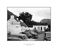 Kate Kearney's Cottage, Killarney.05/05/1958..Kate was a beauty in Ireland before the Famine. At this cottage, Kate made her famous potion &quot;Kate Kearney's Mountain Dew&quot;, which was illegal. She found ways to twart the law though. ..http://www.katekearneyscottage.com/history.html