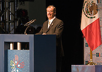 Mexican President Vicente Fox addresses a speech during the opening of the IV World Water Forum in Mexico City, March 16. 2006.  Over ten thousand representatives of 120 countries are attending the meeting to discuss water issues. Photo by Javier Rodriguez © Javier Rodriguez