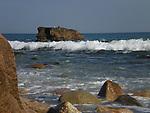 Windswept rugged sea<br /> Mohegan Bluffs, Block Island
