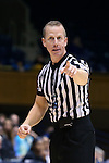 22 November 2016: Referee Mark Resch. The Duke University Blue Devils hosted the Old Dominion University Monarchs at Cameron Indoor Stadium in Durham, North Carolina in a 2016-17 NCAA Division I Women's Basketball game. Duke won the game 92-64.