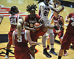 Ole Miss vs. Arkansas in a women's college basketball game in Oxford, Miss. on Thursday, January 31, 2013. Arkansas won 77-66.