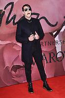 Marilyn Manson at the Fashion Awards 2016 at the Royal Albert Hall, London. December 5, 2016<br /> Picture: Steve Vas/Featureflash/SilverHub 0208 004 5359/ 07711 972644 Editors@silverhubmedia.com