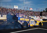 Jun 10, 2016; Englishtown, NJ, USA; NHRA funny car driver Ron Capps during qualifying for the Summernationals at Old Bridge Township Raceway Park. Mandatory Credit: Mark J. Rebilas-USA TODAY Sports