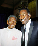 """Andre De Shields """"Marshall Lincoln Kramer III"""" - Another World poses with Norm Lewis """"Keith McLean"""" on All My Children at The National Black Theatre Festival with a week of plays, workshops and much more with an opening night gala of dinner, awards presentation followed by Black Stars of the Great White Way followed by a celebrity reception. It is an International Celebration and Reunion of Spirit. (Photo by Sue Coflin/Max Photos)"""