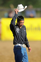 Rookie of the Year Merv Church Jr. Trans-tasman rodeo at the Waimarino Showgrounds, Raetihi, New Zealand on Sunday, 20 March 2011. Photo: Dave Lintott / lintottphoto.co.nz