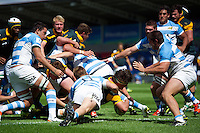 Jan-Henning Campher of South Africa U20 reaches for the try-line. World Rugby U20 Championship 3th Place Play-Off between Argentina U20 and South Africa U20 on June 25, 2016 at the AJ Bell Stadium in Manchester, England. Photo by: Patrick Khachfe / Onside Images