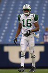 24 September 2006: New York Jets wide receiver Brad Smith warms up prior to a game against the Buffalo Bills at Ralph Wilson Stadium in Orchard Park, NY. The Jets defeated the Bills 28-20. Mandatory Photo Credit: Ed Wolfstein Photo