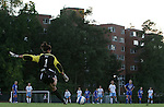 11 October 2007: Duke's Allison Lipsher (1) takes a free kick. The University of North Carolina Tar Heels defeated the Duke University Blue Devils 2-1 at Fetzer Field in Chapel Hill, North Carolina in an Atlantic Coast Conference NCAA Division I Women's Soccer game.