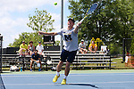 13 May 2016: Michigan's Alex Knight. The University of Michigan Wolverines played the East Tennessee State University Buccaneers at the Wake Forest Tennis Center in Winston-Salem, North Carolina in a 2015-16 NCAA Division I Men's Tennis Tournament First Round match. Michigan won the match 4-3.