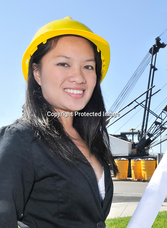 Royalty Free Stock Photo of Asian Female Engineer