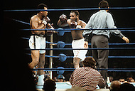 Madison Square Garden, New York, NY, March 8, 1971.  Joe Frazier boxing against Muhammad Ali, in the epic match also known as The Fight of The Century. At the end of the 15th round, Frazier was unanimously declared the winner,  retaining the title and dealing Ali his first professional loss.