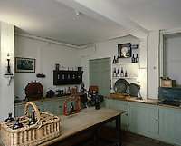 The kitchen is located in the basement of Erddig Hall, which has been preserved by The National Trust to illustrate the life of servants in the 18th and 19th century