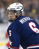 Jon Merrill (US - 6) - The US defeated Russia 5-0 in the 2009 World Under 18 Championship gold medal game at the Urban Plains Center in Fargo, North Dakota, on Sunday, April 19, 2009.