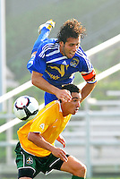 Andreas Arango (blue, minn), Gauchinho...AC St Louis and NSC Minnesota Stars played to a 2-2 tie at Anheuser-Busch Soccer Park, Fenton, Missouri.
