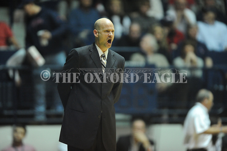 Ole Miss head coach Andy Kennedy vs. Missouri at the C.M. &quot;Tad&quot; Smith Coliseum on Saturday, January 12, 2013. Ole Miss defeated #10 ranked Missouri 64-49.