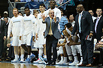 20 February 2016: UNC head coach Roy Williams. The University of North Carolina Tar Heels hosted the University of Miami Hurricanes at the Dean E. Smith Center in Chapel Hill, North Carolina in a 2015-16 NCAA Division I Men's Basketball game. UNC won the game 96-71.