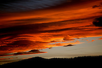 The sky is illuminated during sunset on the Front Range, Colorado.