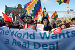 Indigenous climate activists join the march on the Global Day of Climate Action in Copenhagen. Dec. 12, 2009.