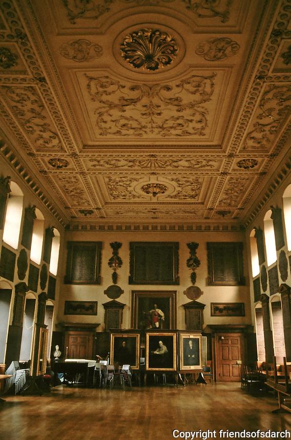James Gibbs: St. Bartholomew's Hospital--Great Hall. London 1730-59.