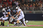 Ole Miss' Patrick Junen (77) blocks at Vaught-Hemingway Stadium in Oxford, Miss. on Saturday, September 10, 2011. Ole Miss won 42-24.