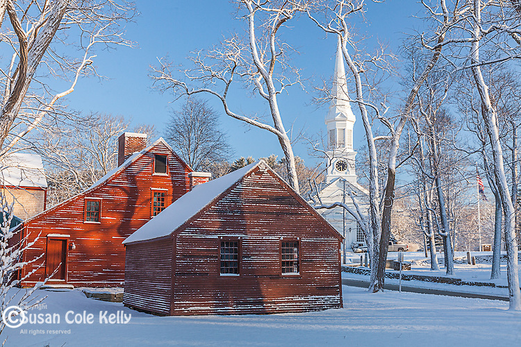 A winter morning at Jefferds Tavern in York Village, ME, USA