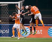 Washington, DC - May 21, 2014: D.C. United defeated the Houston Dynamo 2-0 at RFK Stadium.