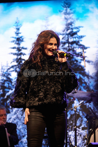 NEW YORK, NY - NOVEMBER 24:  Idina Menzel performing at the Bloomingdale's Holiday Window Unveiling in New York, NY on November 24, 2014.  Photo Credit:  RTNDote / MediaPunch