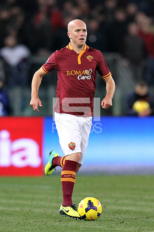 ROMA, Italy: November 25, 2013: As Roma and Cagliari Calcio tie 0-0 during the Serie A match played in the Olimpico Stadium.