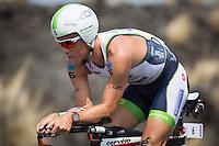 Frederik Van Lierde on the bike at the 2013 Ironman World Championship in Kailua-Kona, Hawaii on October 12, 2013.