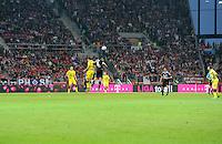 Fussball 1. Bundesliga :  Saison   2011/2012   Liga Total Cup  20.07.2011 Borussia Dortmund - Hamburger SV TELEKOM Werbebande