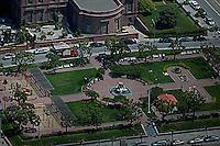 aerial photograph Huntington Park Nob Hill residential neighborhood San Francisco California