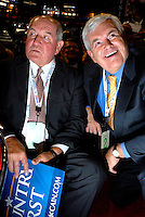 SAINT PAUL, MN - September 2, 2008: Georgia Governor Sonny Perdue and Former Georgia Congressman and Speaker of the House Newt Gingrich on the floor at the 2008 Republican National Convention.