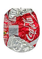 Crushed Can of Coca Cola - Feb 2013.