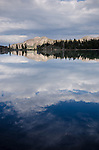 Storm clouds above Upper Kinney Lake, Toiyabe National Forest, California